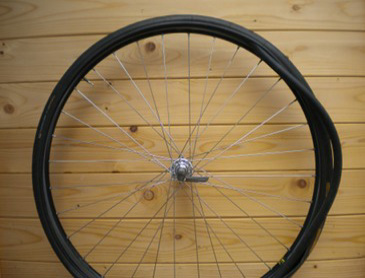 work around the wheel, fit the rest of the inner tube
